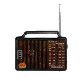 RX-608AC Rádio FM Portátil Retro AM SW1 SW2 4 Banda Alto-falante portátil de rádio de volume alto