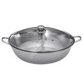 Двусторонняя посуда из нержавеющей стали Hot Pot для индукции 28/30/38/40 см