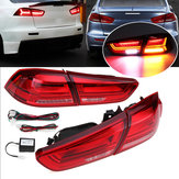 Pair Rear LED Car Tail Light Assembly Brake Lamps Red for Mitsubishi Lancer/ EVO X 2008-2017