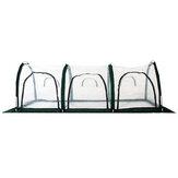 300x100x100cmPVCガーデン温室カバーテント防水は植物を保護します花を植える耐熱性コールドプルーフ成長テント