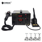 GORDAK 952 Double Digital Display 2 in 1 Rework Station Desoldering Station SMD Thermostatic Soldering Station Hot Air Heater