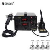 GORDAK 952 Double Digital Дисплей 2 в 1 Паяльная станция SMD Термостатическая Пайка Станция горячего воздуха Нагреватель