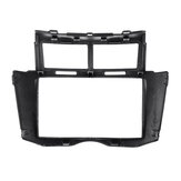 Car Stereo Frame Frame Facia Trim Double-DIN Car para Toyota Yaris Vitz Platz 2005-2011