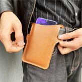 Men Faux Leather Phone Bag Waist Bag Faux Leather EDC Belt Bag