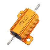 RX24 25W 1R 1RJ Metal Aluminio Caso Resistencia de alta potencia Carcasa de metal dorado Caso Resistencia del disipador de calor