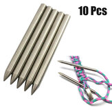 10 Pcs 6 MM 550 Paracord Fid Lacing Stitching Needle Weaving Needle Works Para Cordões de Aço Inoxidável