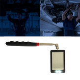 Telescopic Vehicle Inspection Mirror with LED Work Light Amplification Car Repair 360° Rotate LED Mirrors