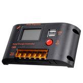 10A / 20A PWM Kontroler ładowarki słonecznej 12V 24V Auto wyświetlacz LCD Podwójny USB 5V 2A Wyjście Regulator słoneczny z kontrolą światła i czasu