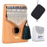 LingTing LT-K17G 17 tuşları Kalimbas Mbira Başparmak Piyano Masif Ahşap Enstrüman Hediye Oyuncaklar