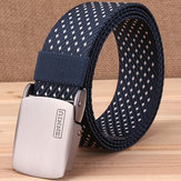 Canvas Web Belts for Men With Alloy Automatic Buckle