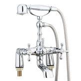 Torneira do chuveiro tradicional vitoriano Banheiro Torneira do chuveiro de enchimento torneira misturadora conjunto de mão