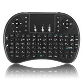 I8 Hebrew Version 2.4G Wireless Mini Keyboard Touchpad Air Mouse Black