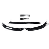 Front Bumper Lip Body Spoiler Kit Glossy Black For VW Golf MK7 MK7.5 2014-2019
