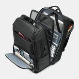 男性多層スペース大容量USB充電盗難防止バックパック付き17インチLabtopビジネスワークバッグ