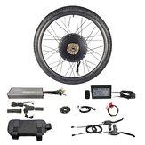 RISUNMOTOR Potente Brushless Brushless Motor Do Cubo 48 V 1500 W Roda Dianteira Bicicleta Elétrica DIY Conversão Kits com Display LCD3