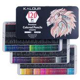 KALOUR 120 Color Pencil Set Professional Smooth Oil Color Drawing Pencil Kit Rich Pigment for Adult Kids Painting Graffiti