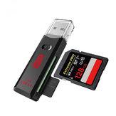 Gleichzeitiges Lesen unterstützt den Kawau C396 DUO USB 3.0 SD-TF-Kartenleser