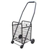 37x32x76cm 2 Rad tragbarer Einkaufswagen zusammenklappbar Gepäck Trolley Basket Grocery Cart Travel Market Trolley