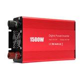 المحمولة 1500W سيارة السلطة العاكس DC 12V إلى AC 110V تعديل شرط موجة محول