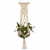 1M Pot Holder Macrame Plant Hanger Hanging Basket Hemp Rope Braid Craft  Decoration