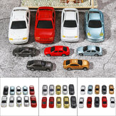 10Pcs Mixed Color HO Scale Model Car Building Train Scenery