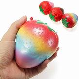 Squishy Rainbow Jam Çikolata Çilek Jumbo 10cm Yavaş Yavaş Yükselen Meyve Koleksiyonu Hediye Dekoru Oyuncak