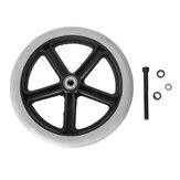 200mm 8inch Grey Rubber Small Non Marking Wheelchair Wheels Replacement Universal