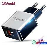 QGEEM QC 3,0 cargador USB dibujo de fibra adaptador de cargador de pared de carga rápida para Huawei P30 P40 Pro MI10 Note 9S S20 + Note 20