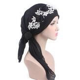 Bawełniane damskie cienkie elastyczne czapki Turban Beanie