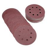 50pcs 5 pouces 8 trous 80/120/180/240/320 grain outil de polissage de disque abrasif