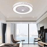 Ventilateur de plafond intelligent avec télécommande Téléphone portable Wi-Fi Intérieur Décoration intérieure Ventilateur de plafond avec lumière Éclairage moderne Lampe circulaire