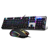 Original Motospeed CK888 NKRO Blue Switch 104Key Mechanische Gaming Tastatur und Maus Combo