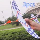 3 पीसीएस लोचदार रबड़ बैंड संचालित DIY फोम विमान खिलौना किट विमान मॉडल शैक्षिक खिलौना