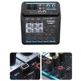 M4 M6 bluetooth Audio Mixer 48V DJ Mic bluetooth Connection Audio Control Digital Display Music Stream for Headphone Laptop Microphone Computer Speaker