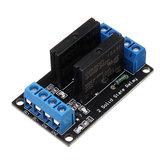 BESTEP 2-kanałowy 5V Moduł przekaźnika półprzewodnikowego niskiego poziomu z bezpiecznikiem 250V2A dla Auduino