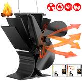 3 Lâminas Ultra Silencioso Ventilador com Fogão a Calor Eco Calor a Lenha Queima de Lenha Queimador de Lareira Ventilador de Inverno Ferramenta Manter Aquecido