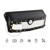 ARILUX® Solar Power / USB Rechargeable Waterproof 57 LED PIR Motion Sensor Wall Light Outdoor Garden 4 Modes