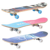 80x20cm Complete Skateboard for Beginner Good Board Chirstmas Gift Longboard Double Kick LED Wheels for Extreme Sports Outdoor