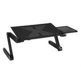 Adjustable Laptop Cooling Stand & Lap Desk Folding Holder Portable Riser Table Cooler Desktop Tray with Mouse Pad for Bed Couch