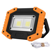 XANES 30W LED COB terbuka IP65 Waterproof Work Light Camping Emergency Lantern Lampu Sorot Senter