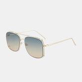 Gafas de sol de moda de protección unisex con marco grande y doble puente UV
