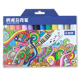 STA STA1000 Marker Pen Set 12/24 Colors/Pack Acrylic Paint Sketching Pens Stationery For DIY Manga Drawing Marker Pen School Student Painter Supplies