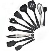 10 PCS Silicone Anti-Adhésif Ustensiles De Cuisson Pan Cuillère Ustensiles De Cuisine Ensemble Vaisselle Outils De Cuisson