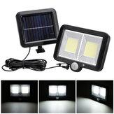 3 Mode 108 Manik-manik Lampu COB Berpisah IP65 Surya Pengisian Cahaya Inframerah Sensor Tubuh Manusia Perpecahan Hiasan Dinding Garasi Pencahayaan Cahaya