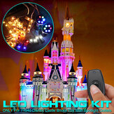 LED Light Lighting Kit ONLY For LEGO 71040 For Disney Castle With Spotlight Outlets Bricks Toy Remote Control