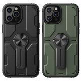 Nillkin for iPhone 12 Pro / 12 Case Bumpers with Removable Stand Shockproof PC + TPU Protective Case