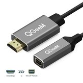 QGEEM QG-HD02 HDMI to Mini DisplayPort Converter Adapter Cable 4K x 2K HDMI to Mini DP Video Cable For Digital TV / LCD Display Laptop / Projector / TV Box