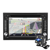 6.2 Inch 2 Din Wince Car DVD Player FM Radio GPS SAT NAV bluetooth with Rear Camera