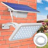 Panel solar luz LED Sensor Wall Street Lámpara Proyector ajustable Impermeable para al aire libre Jardín de césped