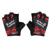 Nylon Atmungsaktives Motorrad Fahrrad Radfahren Sport Halbfinger Fingerlose Handschuhe Handschuhe